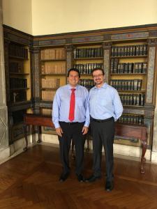 Con Iñigo Salvador, Procurador del Ecuador y Miembro del CJI