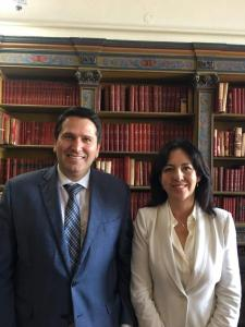 Con la Dra. Ruth Correa, Presidenta del Comité Jurídico de la OEA