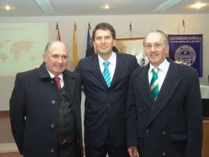 Con Ramón Silva Alonso y J. A. Moreno Ruffinelli