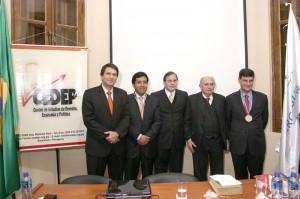 Con Martín Santivañez, Rafael Domingo, Roberto Ruíz Díaz Labrano y Ramón Silva Alonso