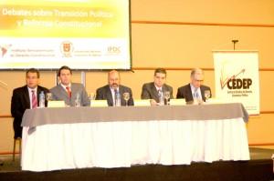 Con Antonio Fix Fierro y Diego Valadés, Congreso de Derecho Constitucional